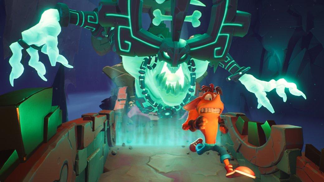 2 часа сCrash Bandicoot 4: It's About Time— динозавры, замедление времени и«рельсы»