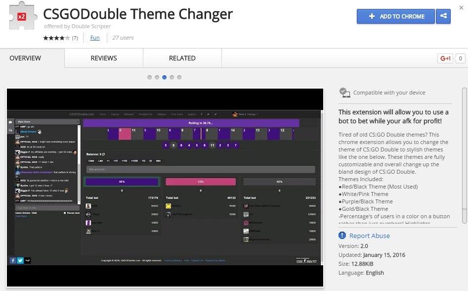 Расширение Chrome обещает помочь с СS:GO и крадет вещи из Steam