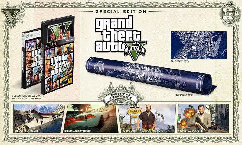 Анонсированы коллекционное и специальное издания игры GTA V
