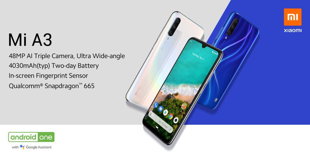 Смартфон Xiaomi MiA3представлен официально. Новинка оказалось нетакой дешевой, как ожидалось