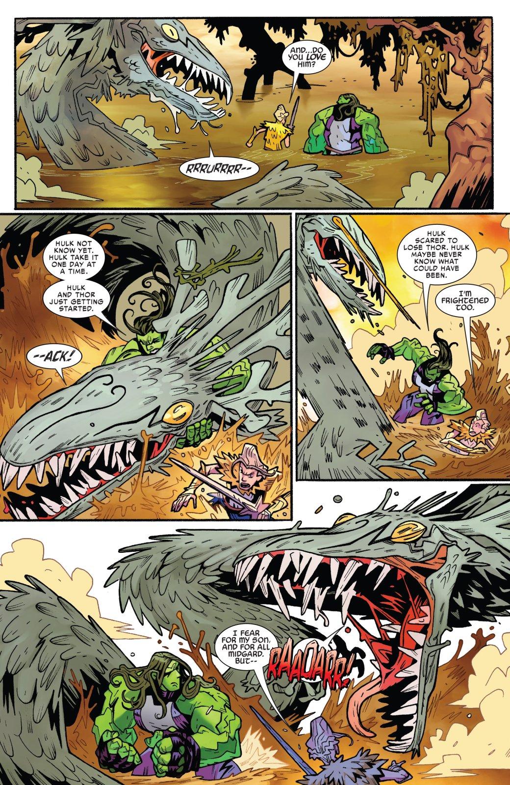 Вактуальных комиксах уТора иЖенщины-Халка роман. Что думает обэтом мать бога грома Фрейя?