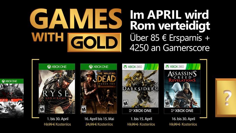 Апрельский набор Xbox Games with Gold довольно хорош