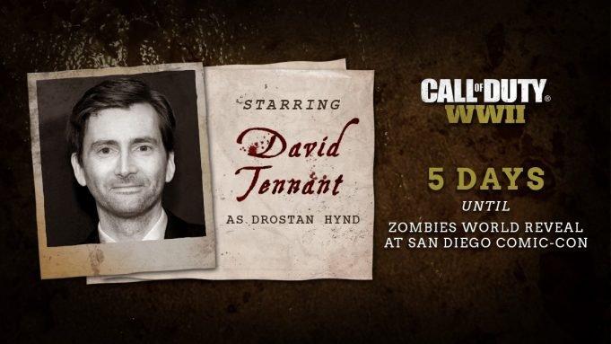 Взомби-режиме Call ofDuty: WWII появится Дэвид Теннант