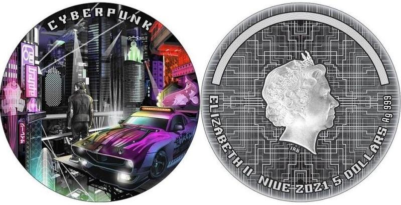 Помотивам Cyberpunk 2077 выпустят памятные монеты