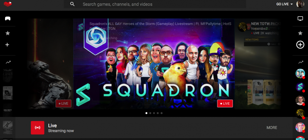 YouTube Gaming запущен, выглядит круто