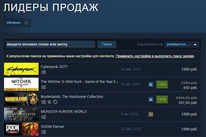 Cyberpunk 2077 уже стала лидером продаж в Steam и GOG