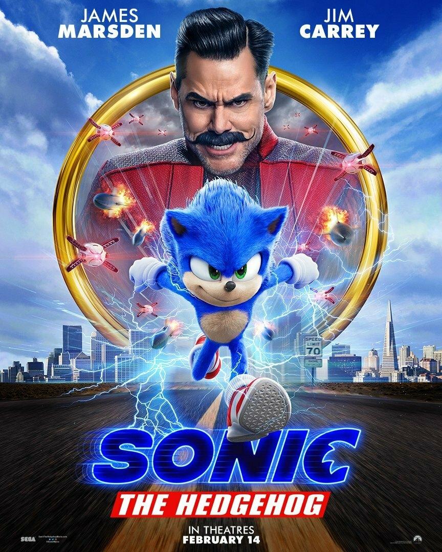 Новый трейлер «Соника в кино». Теперь главный герой выглядит как в мультиках!