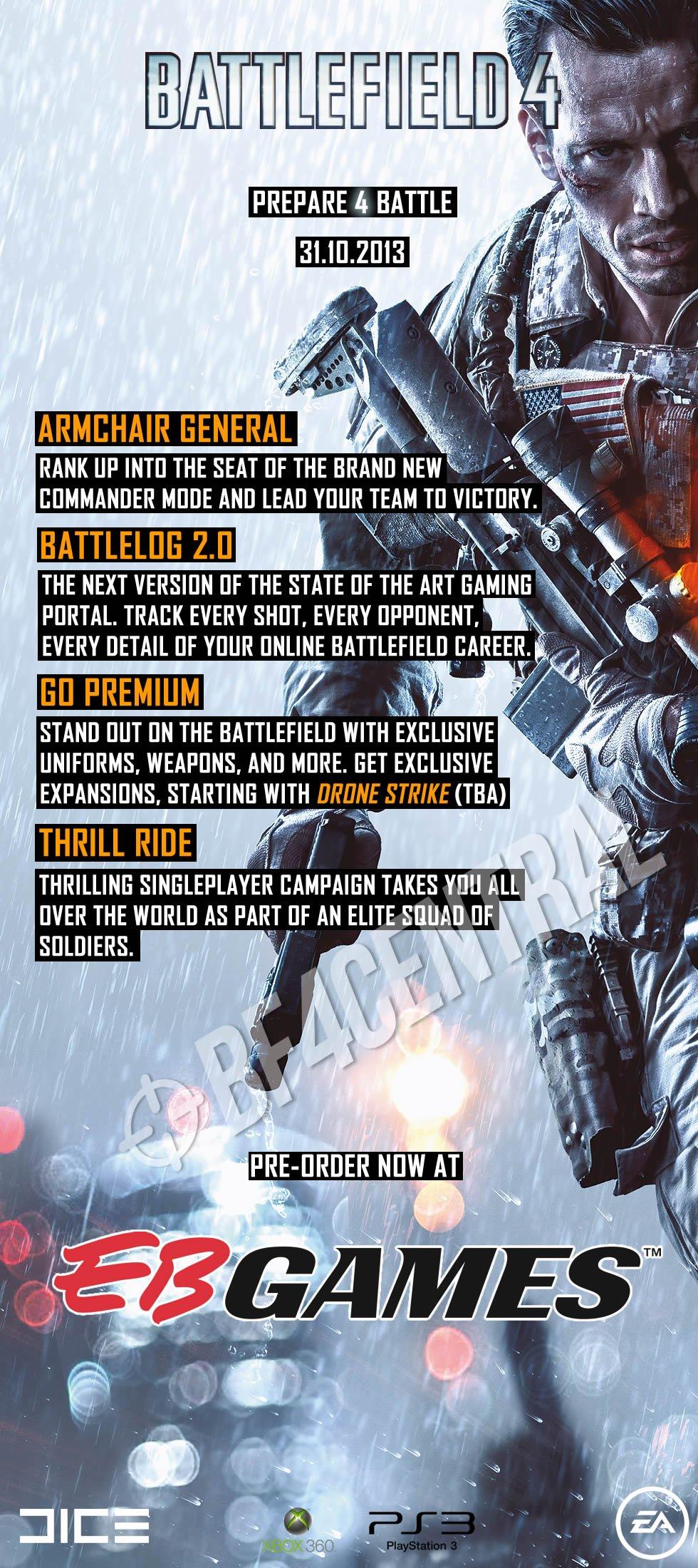Battlefield 4 возможно выйдет 31 октября