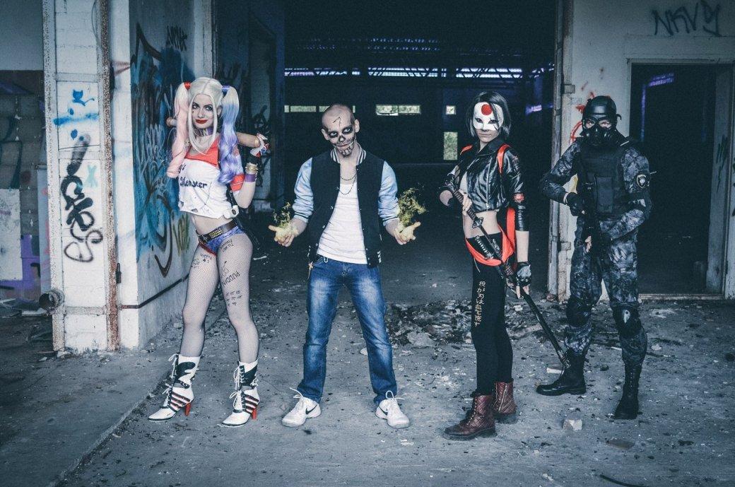 Косплей дня: Джокер, Харли Квинн, Катана и Эль Дьябло из Suicide Squad