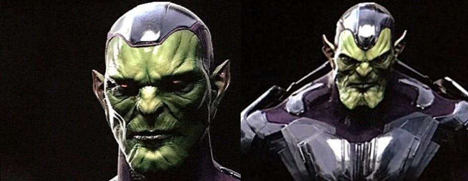 Концепт-арты «Капитана Марвел» намекают, что важный персонаж киновселенной может оказаться скруллом