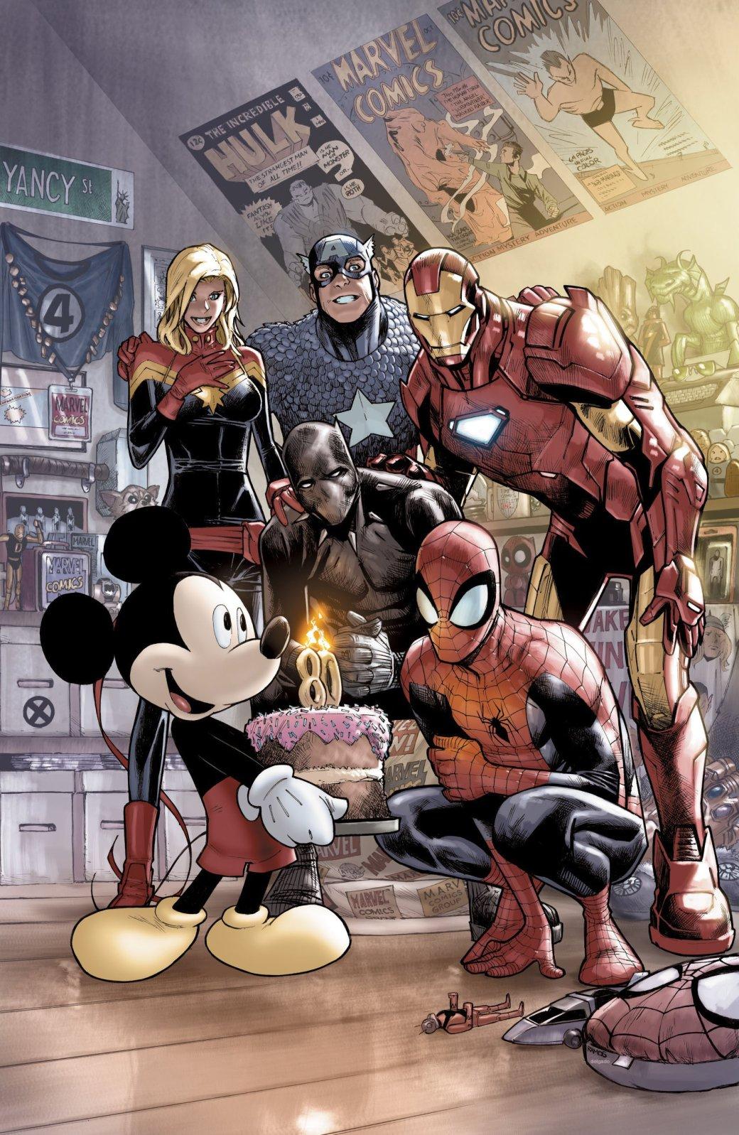 Микки Маус поздравляет героев Marvel с днем рождения