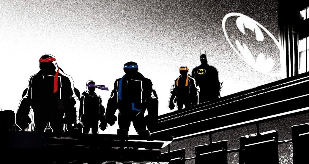 Для неподготовленного зрителя команда изБэтмена иЧерепашек-ниндзя может показаться вопиющей дикостью. Ведь между этими персонажами практически нет ничего общего (разве что иТемный рыцарь, имутанты не любят преступников). Однако вкомиксах подобный кроссовер спокойно существует с2015 года, аблагодаря мультфильму «Бэтмен против Черепашек-ниндзя» (Batman vs Teenage Mutant Ninja Turtles) онзаявил осебе иванимационном формате.