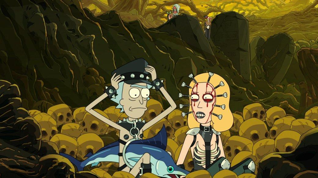 Рецензия на 5 серию 5 сезона «Рика и Морти». Cредний эпизод с очень смешными шутками про Ад и БДСМ
