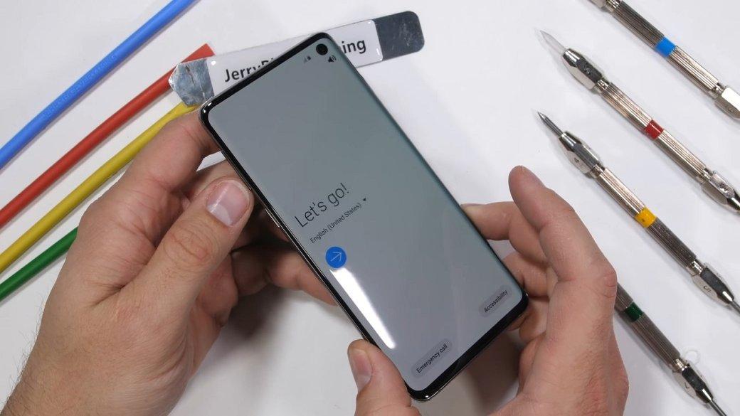 Флагман Samsung Galaxy S10 легко справился стестом напрочность