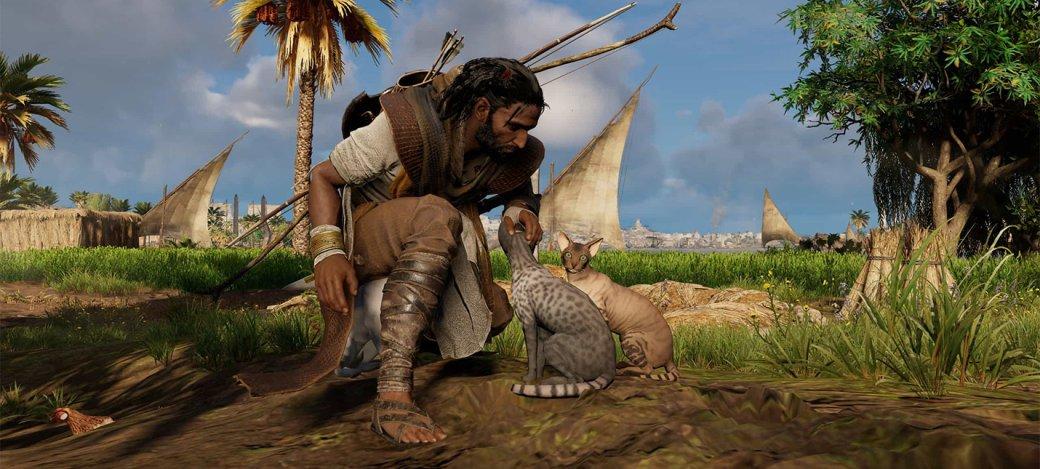 Гифка дня: позорное унижение вAssassin's Creed Origins