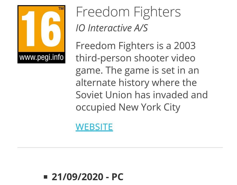 Freedom Fighters может получить переиздание. Доказательство нашли всети [Обновлено]