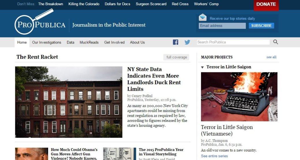 ProPublica стал первым крупным новостным сайтом глубинного интернета