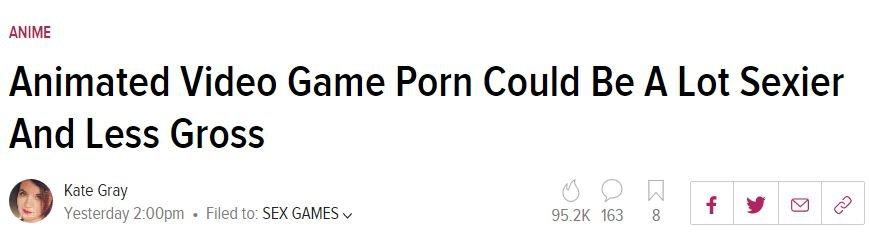Статья Kotaku обанимированном порно стала причиной скандала из-за показа секса несовершеннолетних