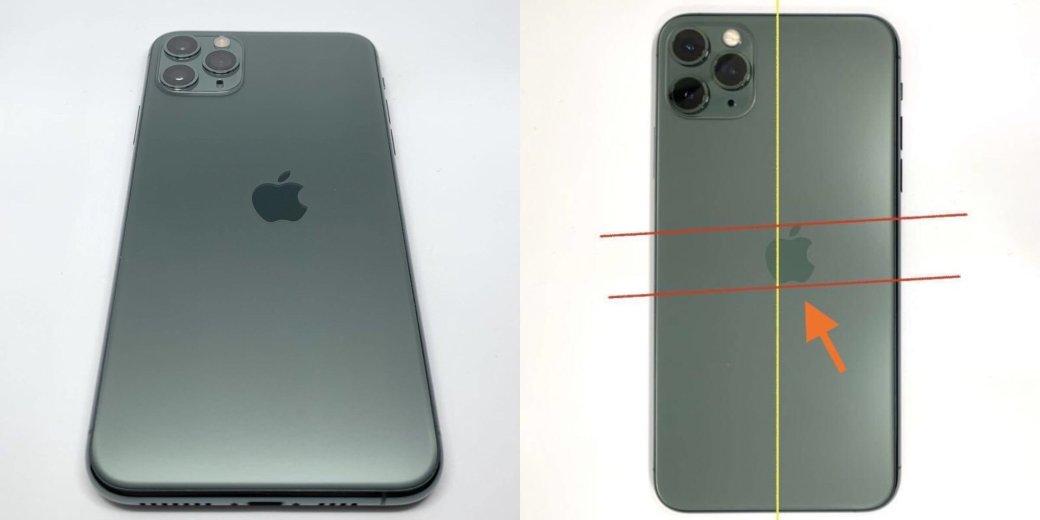 Бракованный iPhone 11 Pro скривым «яблоком» продали за200000 рублей