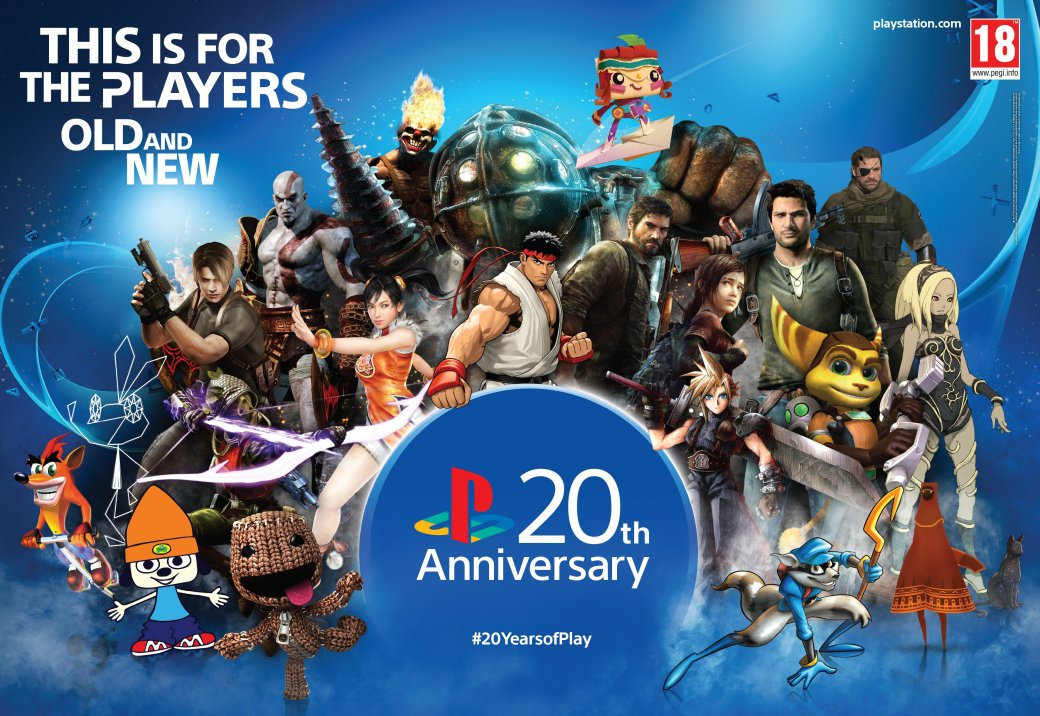 Sony устроила викторину в честь 20-летия европейской PlayStation