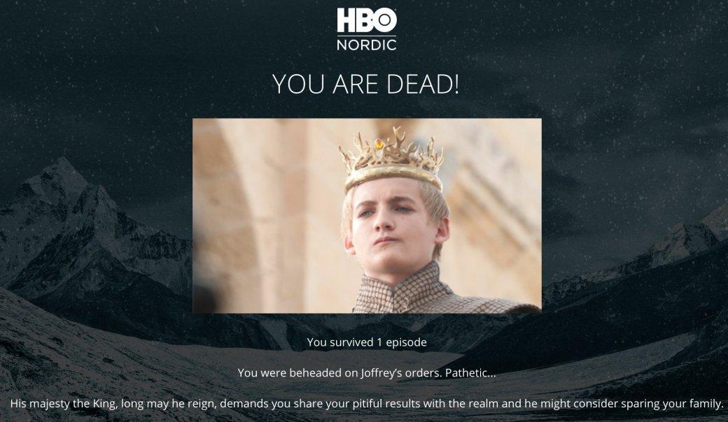 Как вы умрете? Суперсложный тест по «Игре престолов»!
