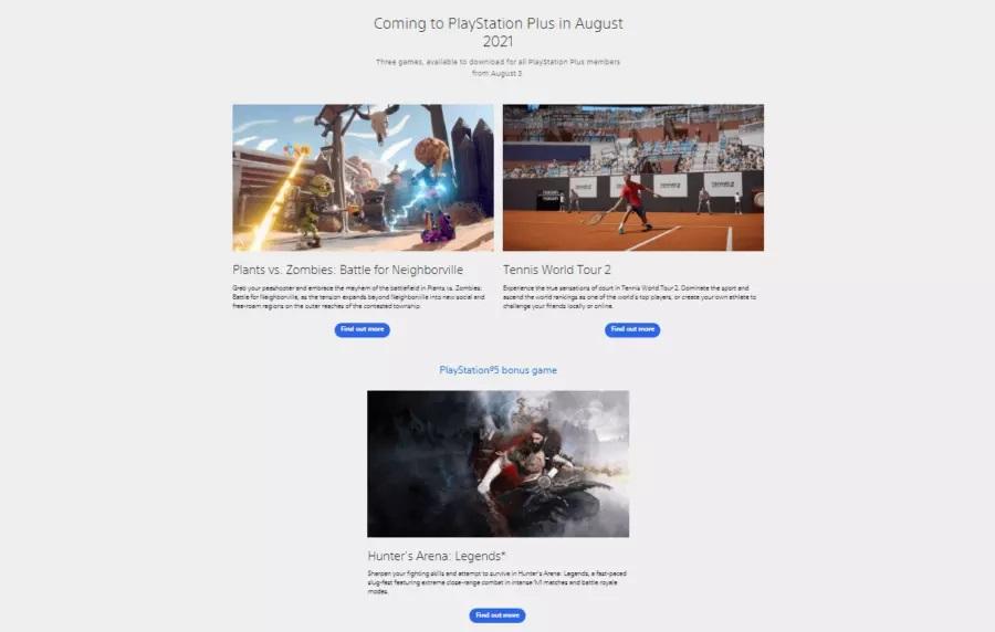 Шутер Plants vsZombies итеннис: Sony случайно слила августовские игры изPSPlus