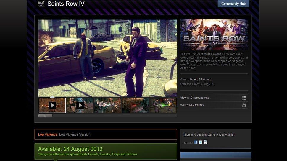В Steam появилась версия Saints Row 4 с низким уровнем насилия