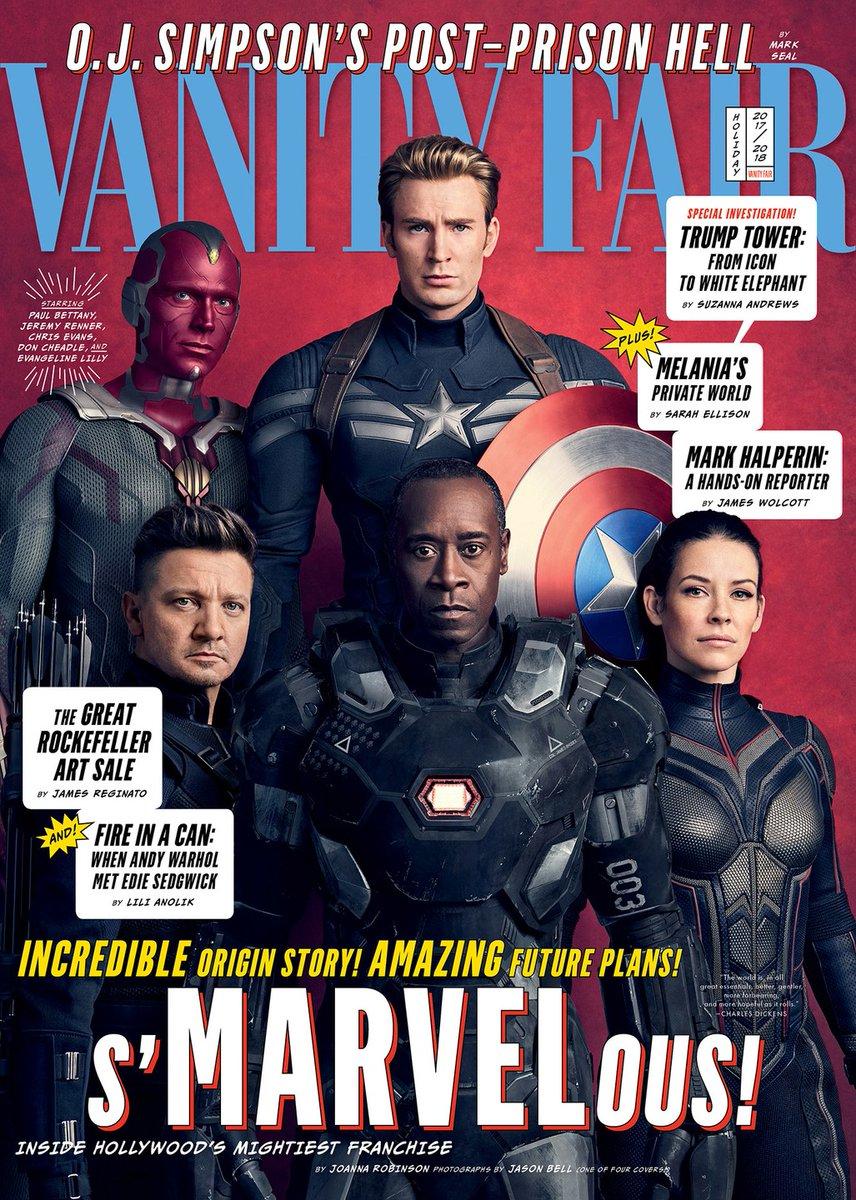 Героично: вжурнале Vanity Fair показали новые фото персонажей «Войны бесконечности»