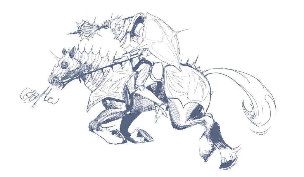 Стоит взглянуть. Художник круто рисует драконов и персонажей из Dota 2