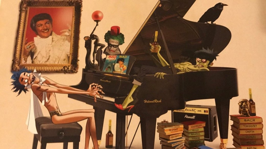 Полюбуйтесь на прекрасные иллюстрации из артбука по Humanz от Gorillaz