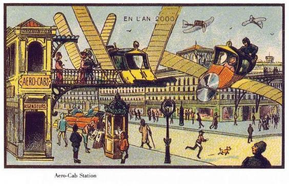 15 рисунков будущего, каким люди представляли его 100 лет назад