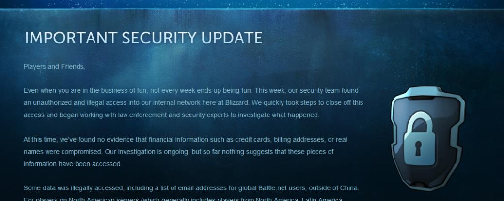 Онлайн-сервис Blizzard был взломан