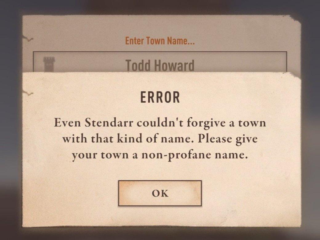 Геймеры сообщают— вThe Elder Scrolls: Blades нельзя назвать город вчесть великого Тодда Говарда