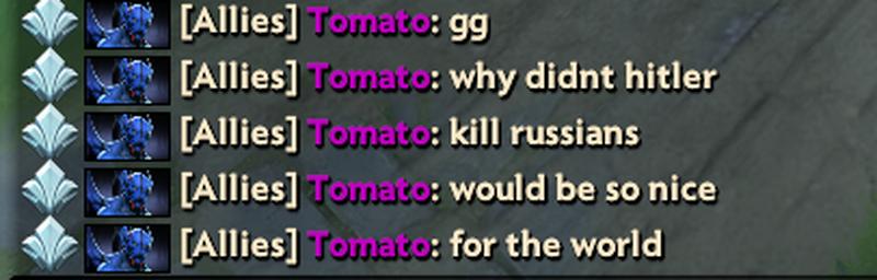 MinD_ContRoL в общем чате Dota 2 спросил, почему Гитлер не убил русских [обновлено]
