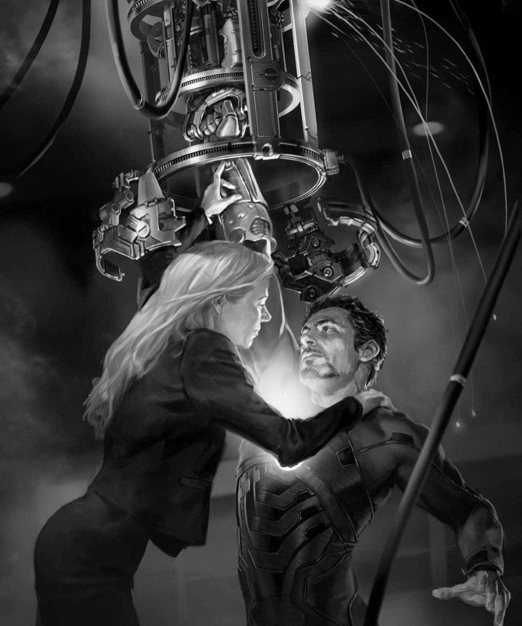 Тони Старк застревает вброне наконцепт-арте «Железного Человека»