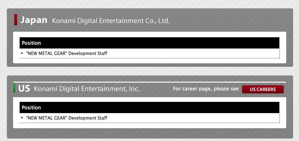 Назло всем: Konami ищет сотрудников для новой Metal Gear