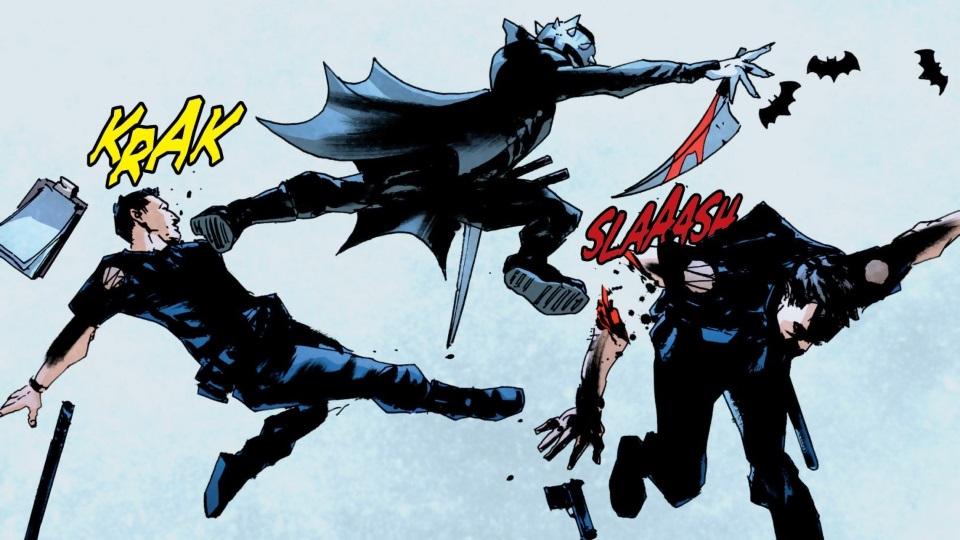 Бэтмен-Джокер раскидывает трупы Брюсов Уэйнов вГотэме. Каким получился комикс The Batman Who Laughs
