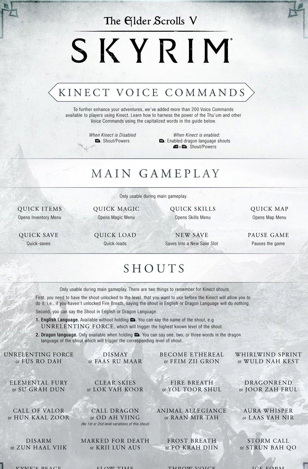 Skyrim получит подддержку Kinect сегодня