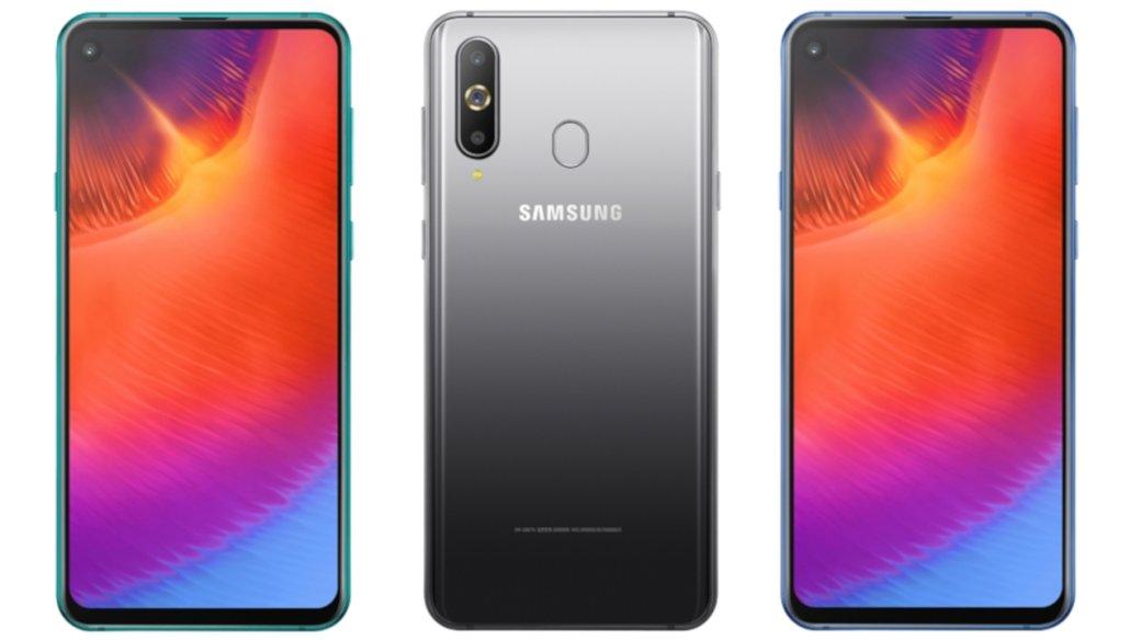Samsung представила смартфон Galaxy A9Pro 2019: тройная основная иврезанная вэкран селфи-камера