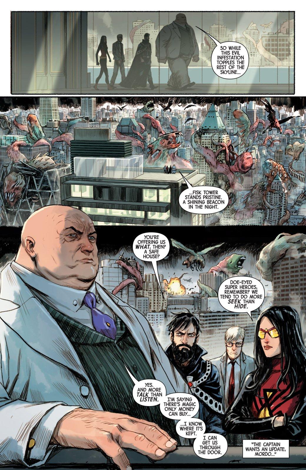 Кингпин познает магию, помогая Доктору Стрэнджу освободить Манхэттен