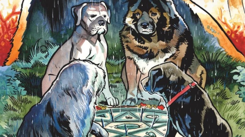 В2003 году сценарист Эван Доркин написал свою первую историю, посвященную команде умных собак, которые пытаются противостоять самой настоящей нечисти. Попризнанию автора— ондавно хотел написать хоррор-историю сживотными вглавных ролях. Так был написан короткий комикс «Бродяга», который стал частью сборника The Dark Horse Book ofHauntings. Автор невозлагал больших надежд накомикс, однако, сюжет был очень тепло встречен читателями. После нескольких продолжений было решено объединить комиксы вединую серию. Так ипоявились «Звери сБренного холма» (Beasts ofBurden), первый том которых совсем недавно был выпущен издательством JellyFishJam. Онем ипойдет речь вэтом материале.