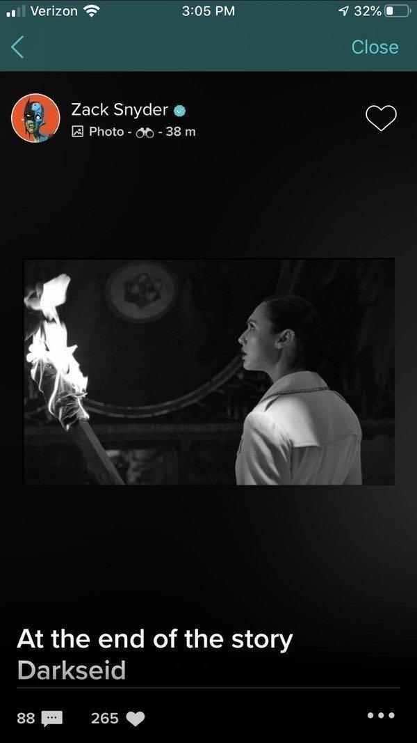 Чудо-женщина узнает про Дарксайда накадре изрежиссерской версии «Лиги справедливости»