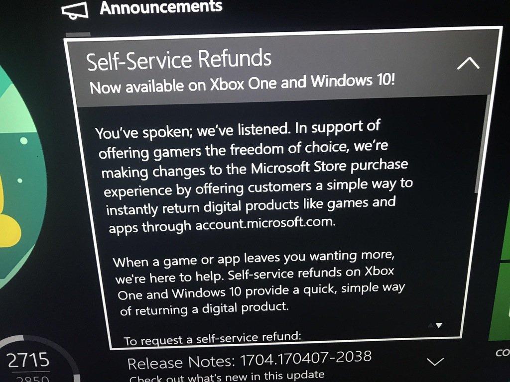 Вернуть деньги заигры теперь можно будет наXbox One иWindows10