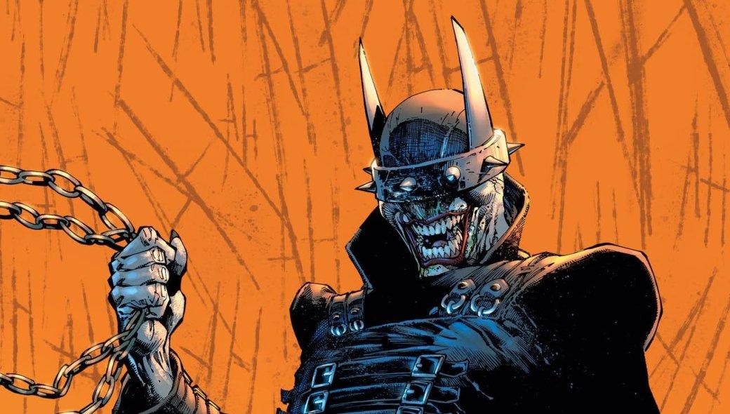 Недавно завершилась мини-серия изсеми выпусков The Batman Who laughs, посвященная возвращению злого смеющегося Бэтмена изальтернативной вселенной, где онстал гибридом Темного рыцаря иДжокера. Новэтот раз сошедший сума Брюс Уэйнсам посебе, иунего есть секретное оружие.