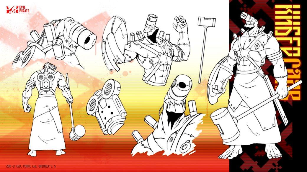 Такого вы еще не видели: три кибер-богатыря в трейлере древнеславянской киберпанк-анимации