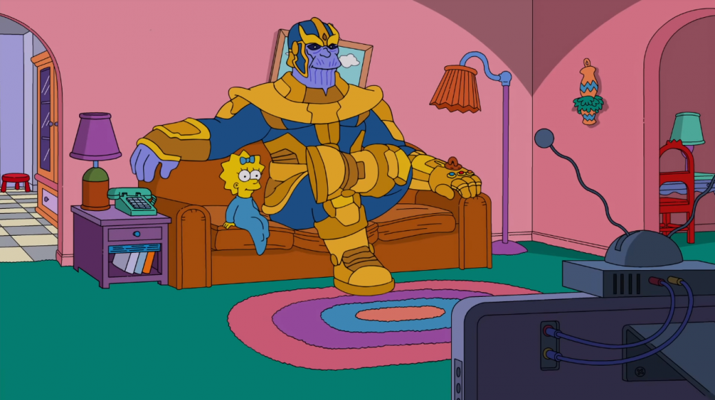 Танос заглянул в «Симпсоны» и убил почти всех главных героев. Только без знаменитого щелчка