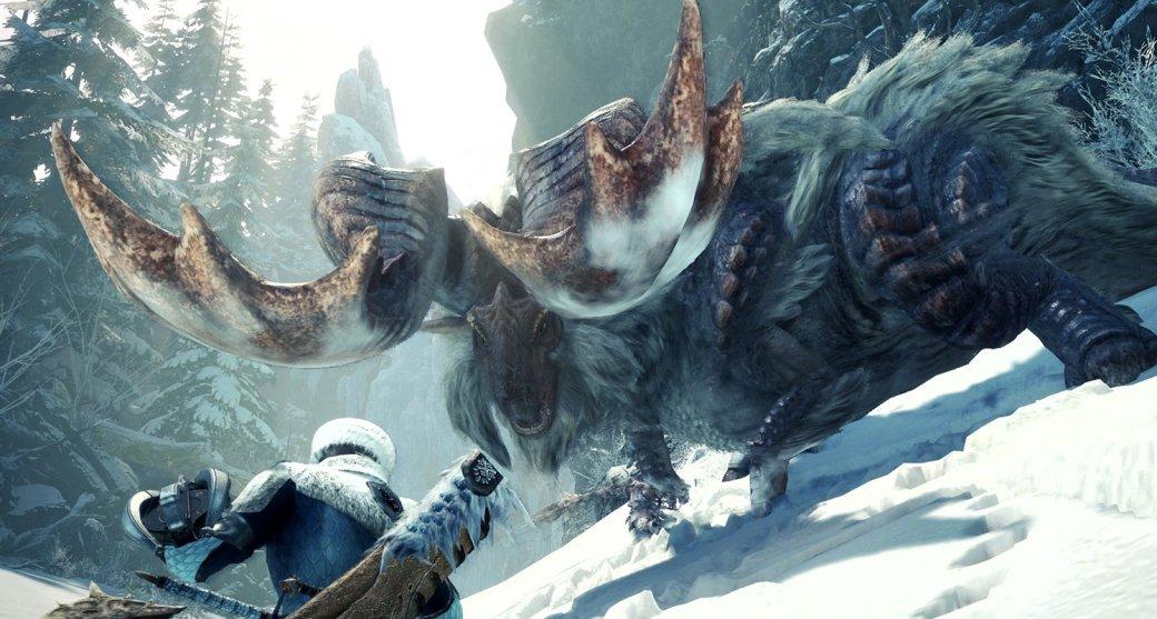 Новый сюжетный трейлер дополнения для Monster Hunter: World— лед, монстры иснова лед
