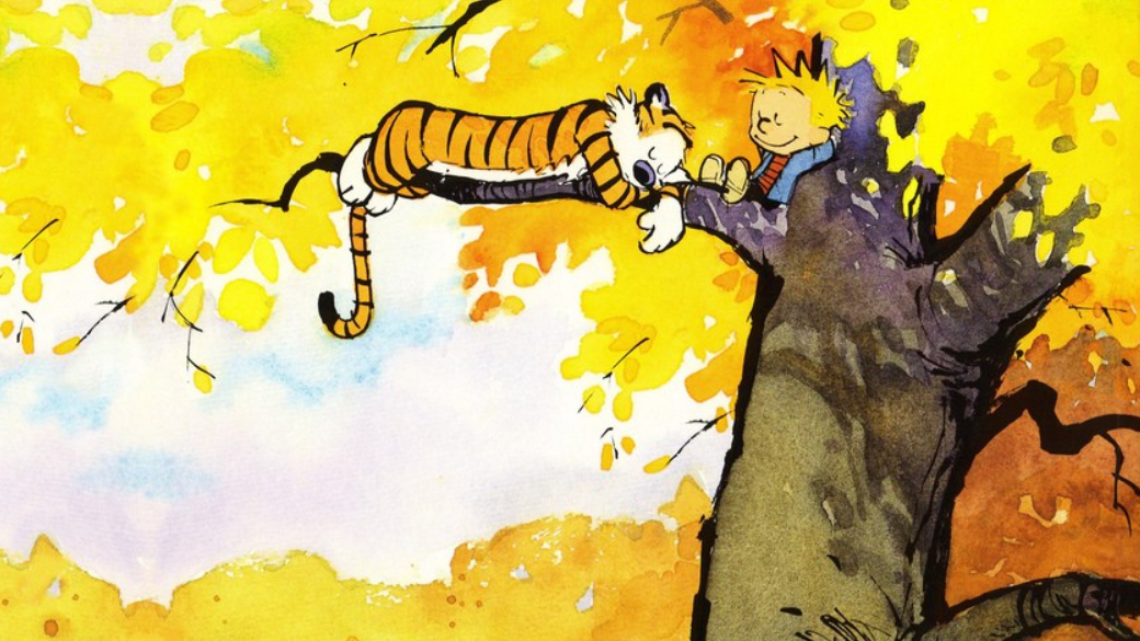В1985 году американский художник Билл Уоттерсон опубликовал свой первый газетный стрип изсерии «Кальвин иХоббс» (Calvin and Hobbes). Издан онбыл вгазете Cincinnati Post, нонадолго встенах одного печатного издания незадержался. Достигнув пика своей популярности, комиксы про мальчика итигра стали печататься вомногих странах мира. В1995 году публикация новых историй прекратилась поинициативе автора, поскольку онпосчитал, что рассказал уже все возможные истории (что крайне нетипично для стрипов). Вмае 2018 года издательство Zangavar выпустило нарусском языке уже третий сборник под названием «Кальвин иХоббс: Убийственный психо-джунглевый кот». Обэтой книге иокомиксах Уоттерсона ознаменитой парочке вцелом ипойдет речь вэтом материале.