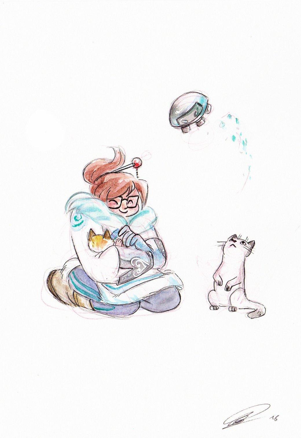 Милота дня: как выгляделибы коты героев Overwatch