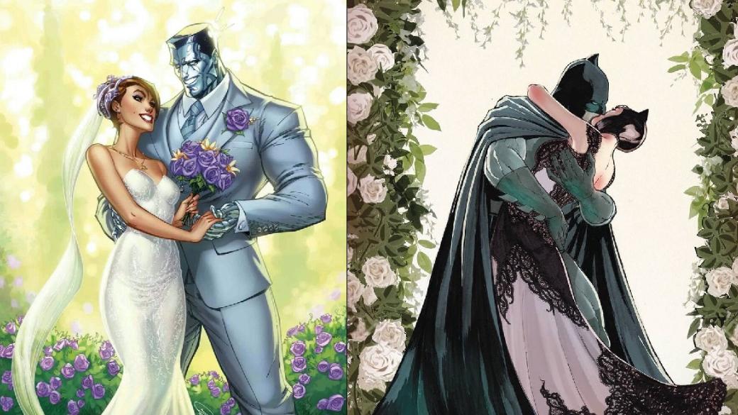 5июля вышел юбилейный комикс Batman vol.3 #50, главной темой которого стала свадьба Темного рыцаря иЖенщины-кошки. Тремя неделями ранее вышел другой юбилейный выпуск— X-Men: Gold vol.2 #30, вкотором должна была произойти свадьба Китти Прайд иКолосса. Уэтих свадебных выпусков оказалось слишком много общего, поэтому мырешили ихсравнить, чтобы понять, чья свадьба получилась лучше. Ивчесть этот вспомнили формат «Версуса».